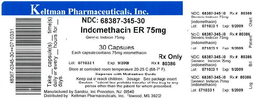 Indomethacin 75 mg Label