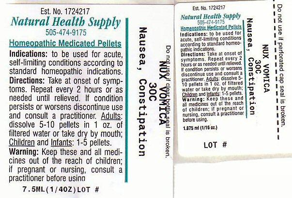 Nausea Constipation Label