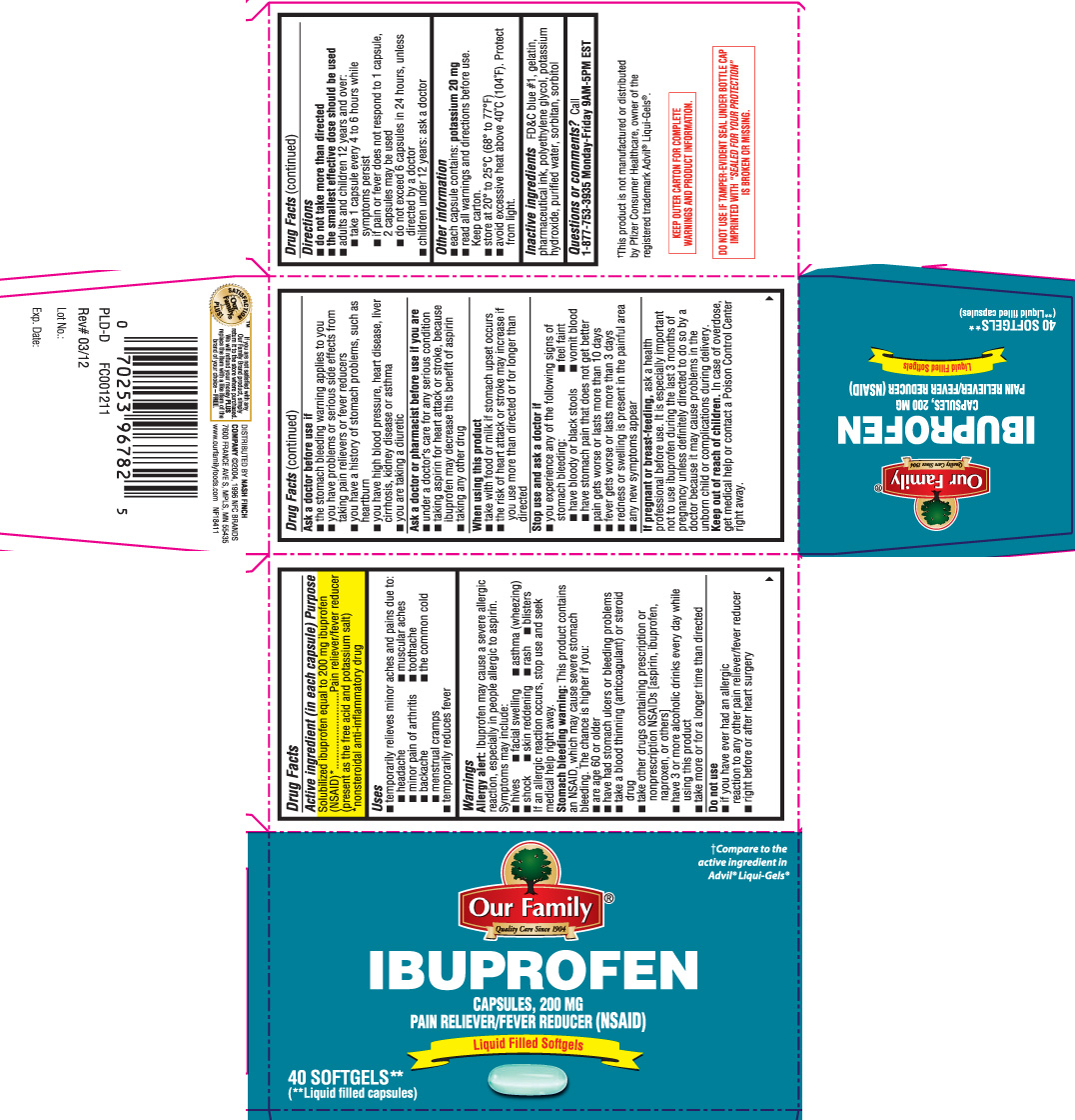 Ibuprofen Capsule, Liquid Filled [Our Family (Nash Finch Company)]