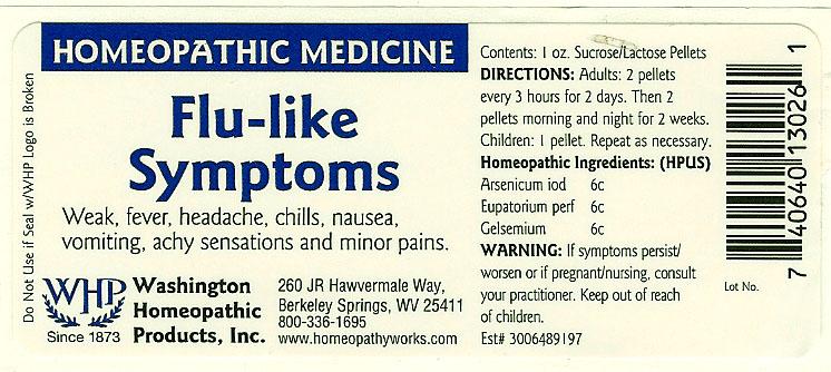 Flu-like Symptoms (Arsenic Triiodide – Eupatorium Perfoliatum Flowering Top – Gelsemium Sempervirens Root) Pellet [Washington Homeopathic Products]