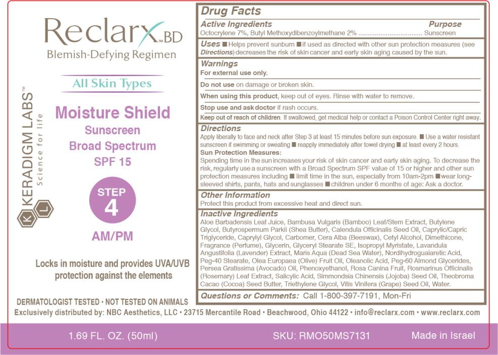 Reclarx Moisture Shield (Octocrylene And Avobenzone) Cream [Nbc Aesthetics, Llc]