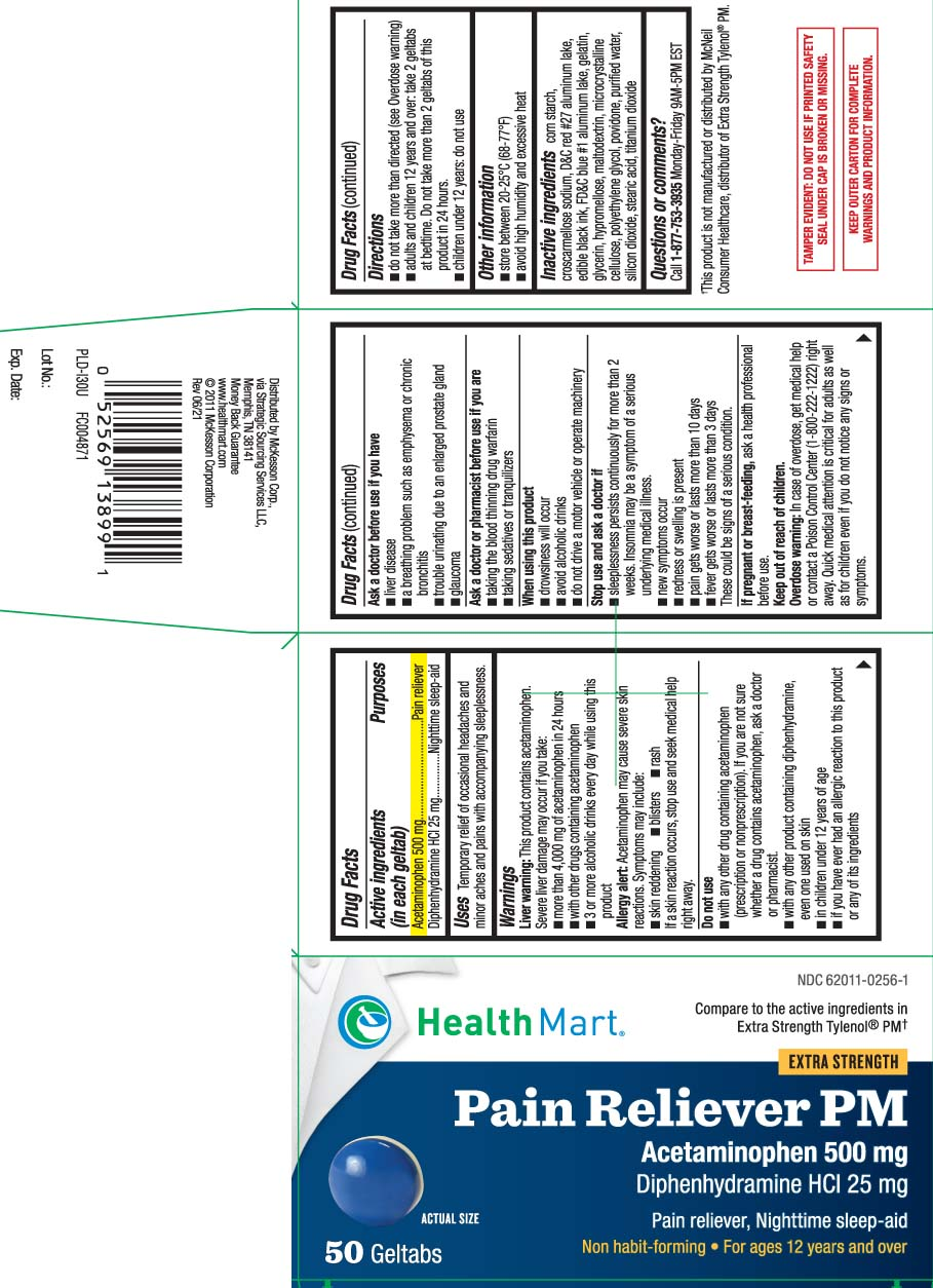 Pain Reliever Pm Extra Strength (Acetaminophen, Diphenhydramine Hcl) Tablet, Coated [Mckesson (Health Mart)]