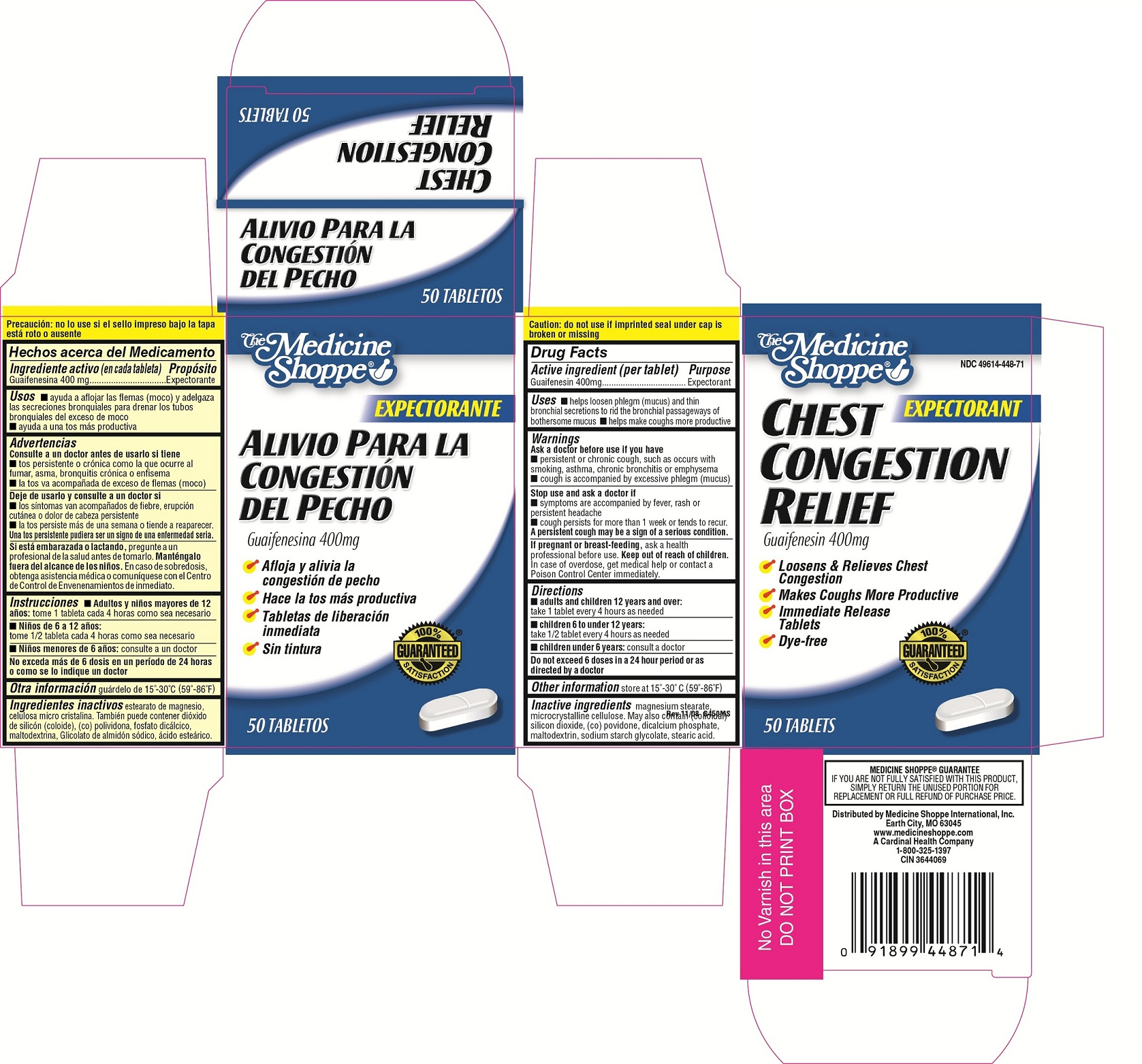 The Medicine Shoppe Chest Congestion Relief (Guaifenesin) Tablet [Medicine Shoppe International Inc]