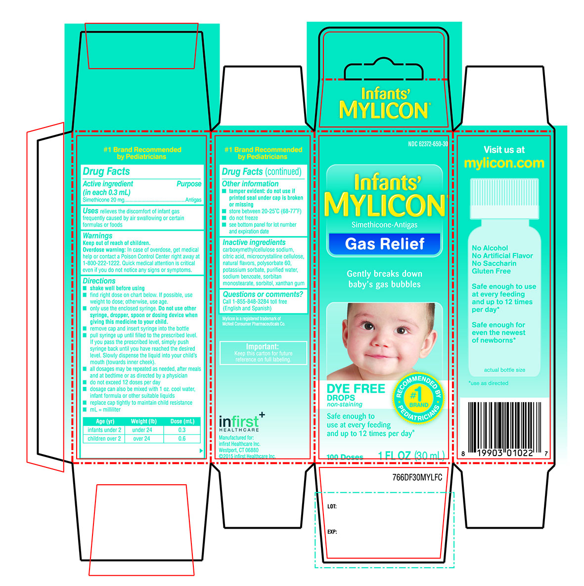 Mylicon Infants Gas Relief Dye Free (Simethicone) Emulsion [Infirst Healthcare]