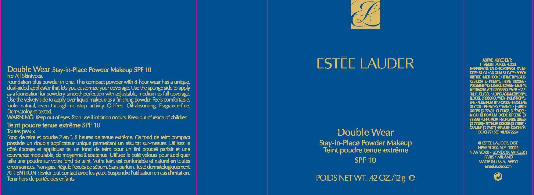 Double Wear Stay In Place Spf 10 Makeup (Titanium Dioxide) Powder [Estee Lauder Inc]