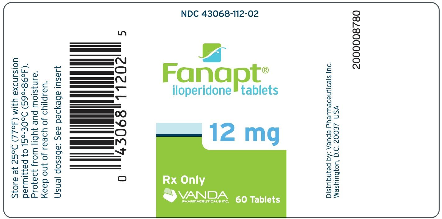 Fanapt (Iloperidone) Tablet Fanapt (Iloperidone) Kit [Vanda Pharmaceuticals Inc.]