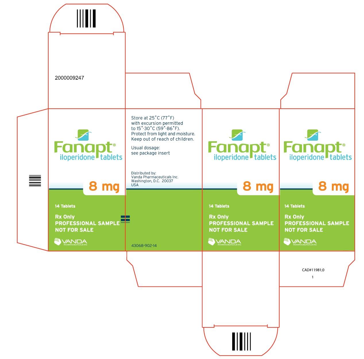 PRINCIPAL DISPLAY PANEL - 8mg carton