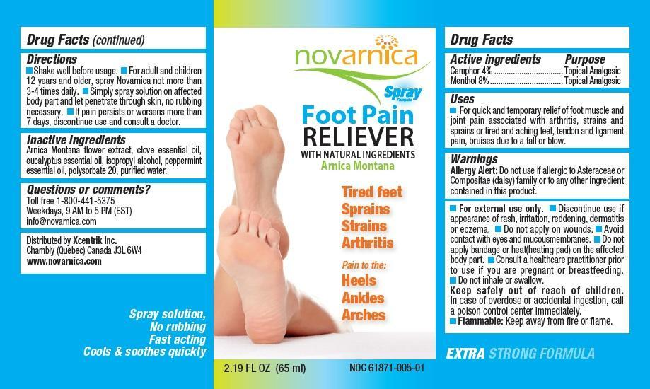 Novarnica Foot Pain Reliever (Camphor And Menthol) Spray [Xcentrik Inc.]