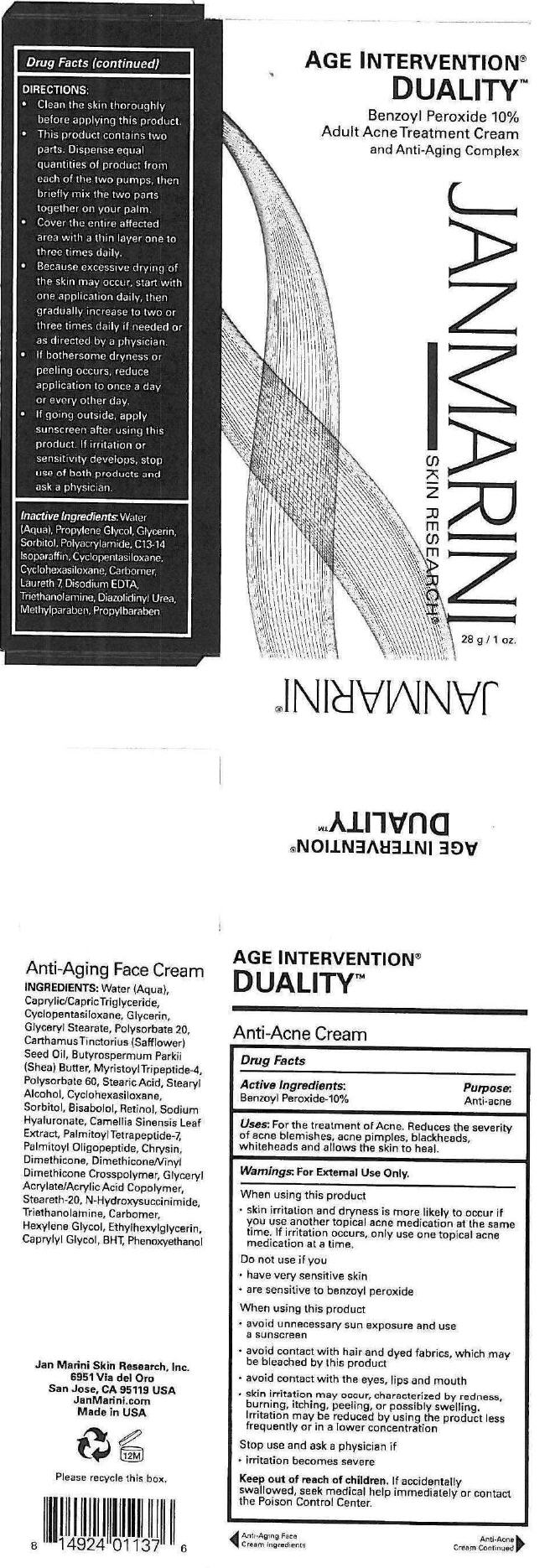 Age Intervention Duality (Benzoyl Peroxide) Cream [G.s. Cosmeceutical Usa, Inc.]
