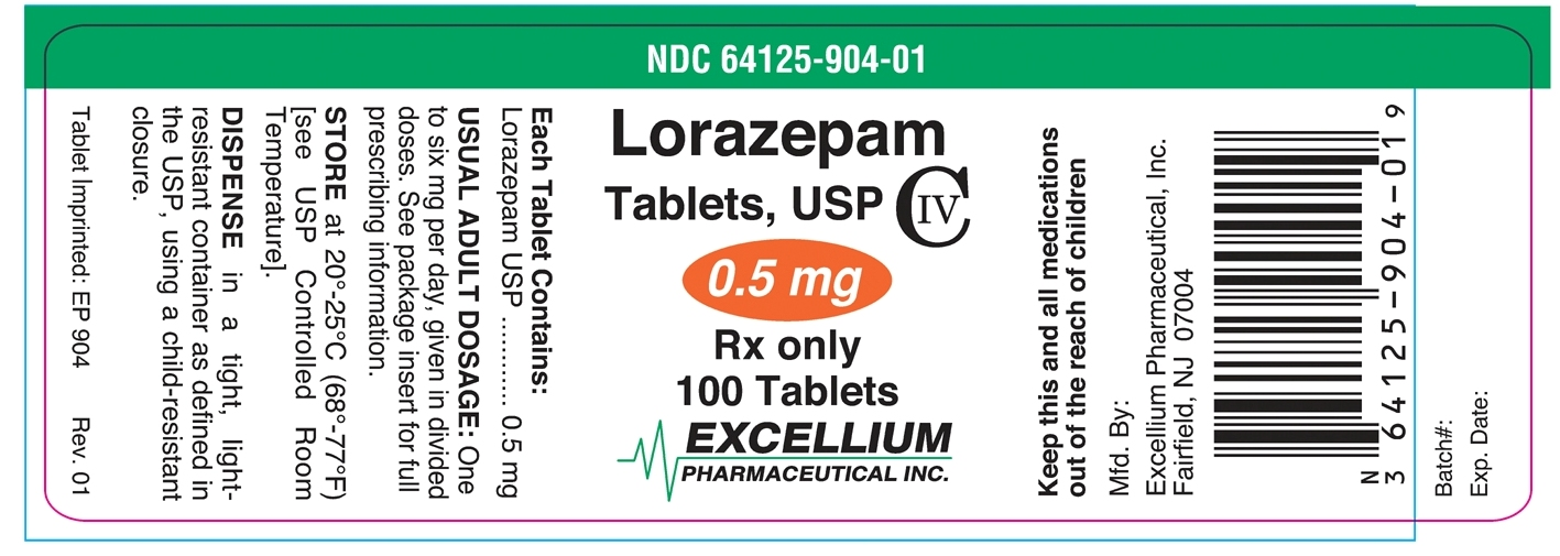 Lorazepam Tablet [Excellium Pharmaceutical Inc.]