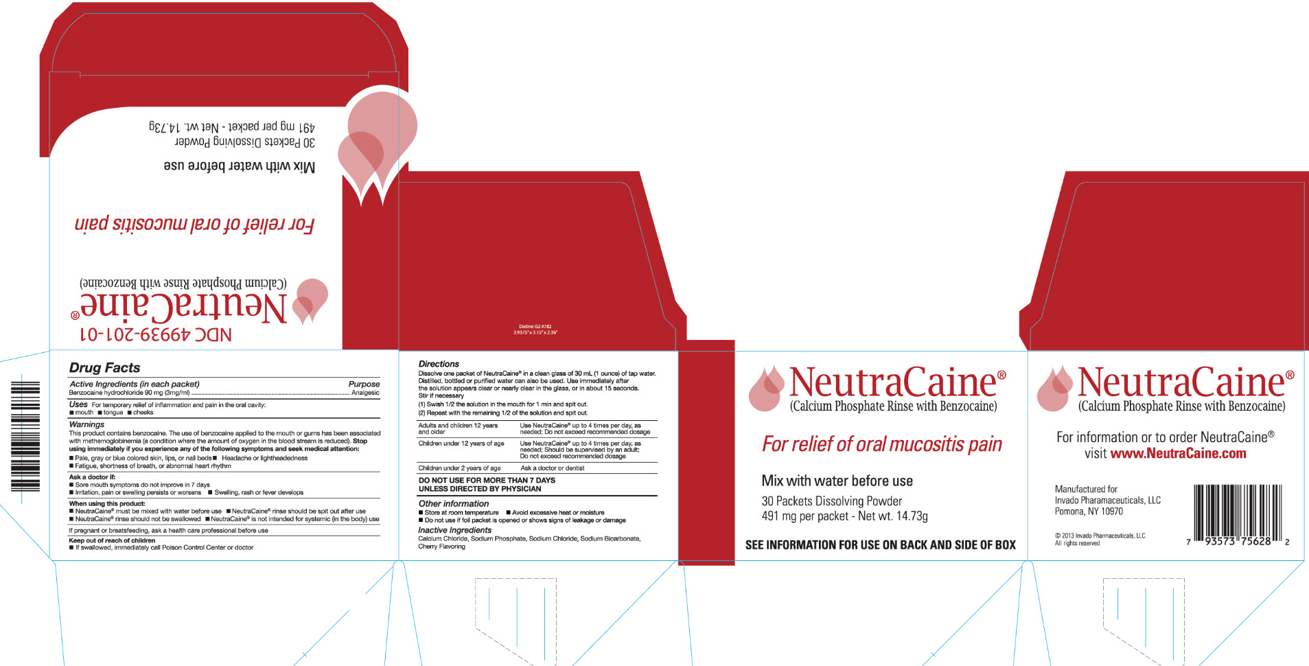 Neutracaine (Benzocaine Hydrochloride) Powder, For Solution [Invado Pharmaceuticals, Llc]
