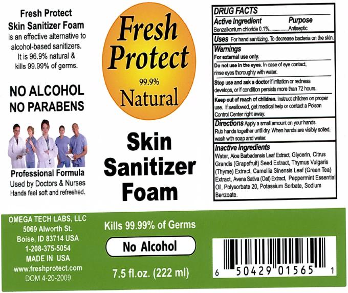 Fresh Protect Skin Sanitizer (Benzalkonium Chloride) Liquid [Omega Tech Labs Inc.]