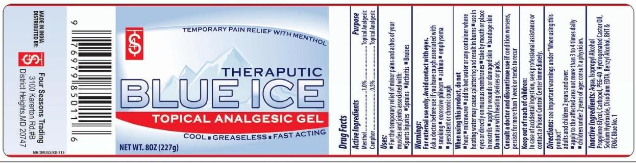 Blue Ice Topical Analgesic (Menthol And Camphor) Gel [Four Seasons Trading Inc]