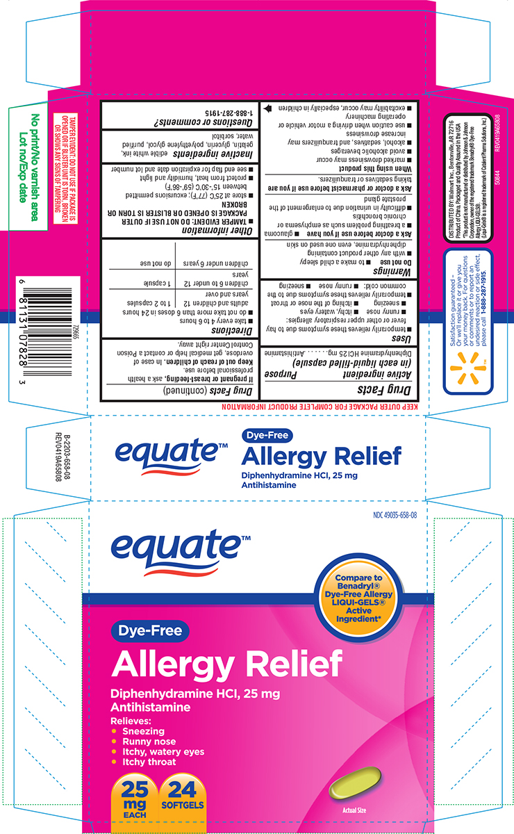 Allergy Relief Dye-free (Diphenhydramine Hcl) Capsule, Liquid Filled [Wal-mart Stores Inc]