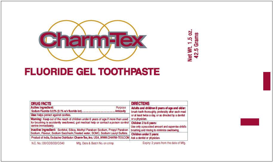 Charm Tex (Sodium Fluoride) Paste, Dentifrice [Charm Tex, Inc.]