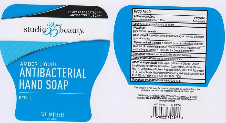 Studio 35 Beauty Amber Antibacterial Refill (Benzalkonium Chloride) Liquid [Walgreen Company]