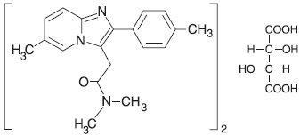 This in an image of the structural formula of zolpidem tartrate.
