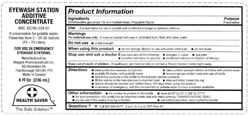 Eyewash Station Additive Concentrate (Chlorhexidine Gluconate And Propylene Glycol) Liquid [Niagara Pharmaceuticals Inc.]