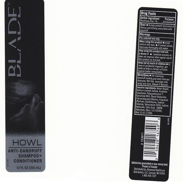 Blade Howl Anti-dandruff (Pyrithione Zinc) Shampoo [Cvs Pharmacy Inc]