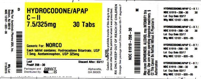 Direct Rx (Hyrdrocodone Apap) Tablet [Direct Rx]