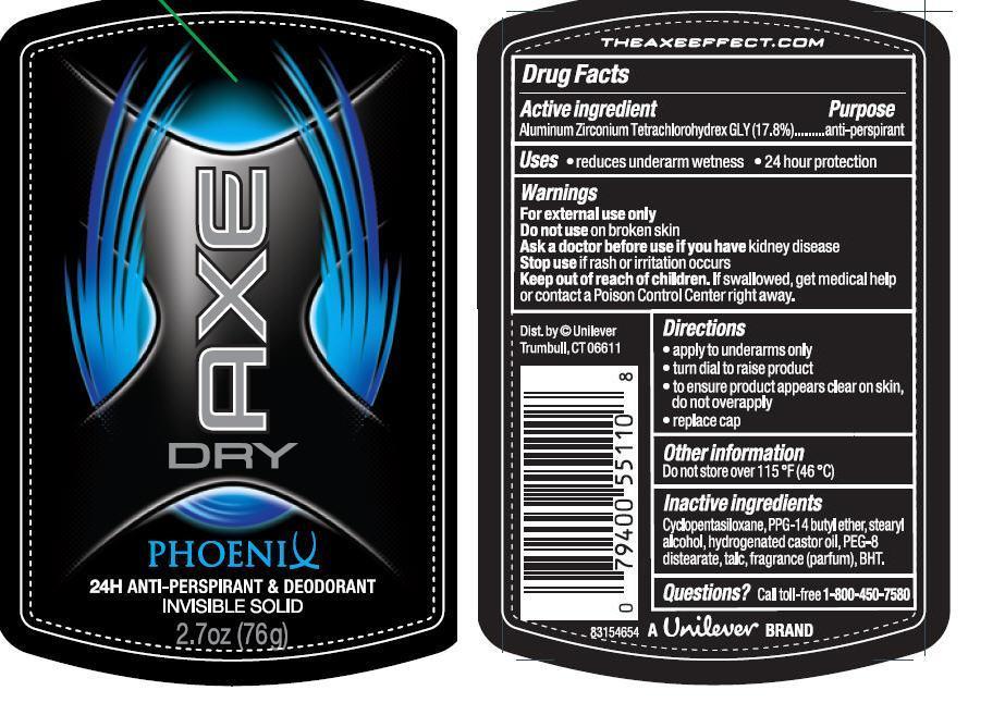 Axe (Antiperspirant And Deodorant) Stick [Conopco Inc. D/b/a Unilever]