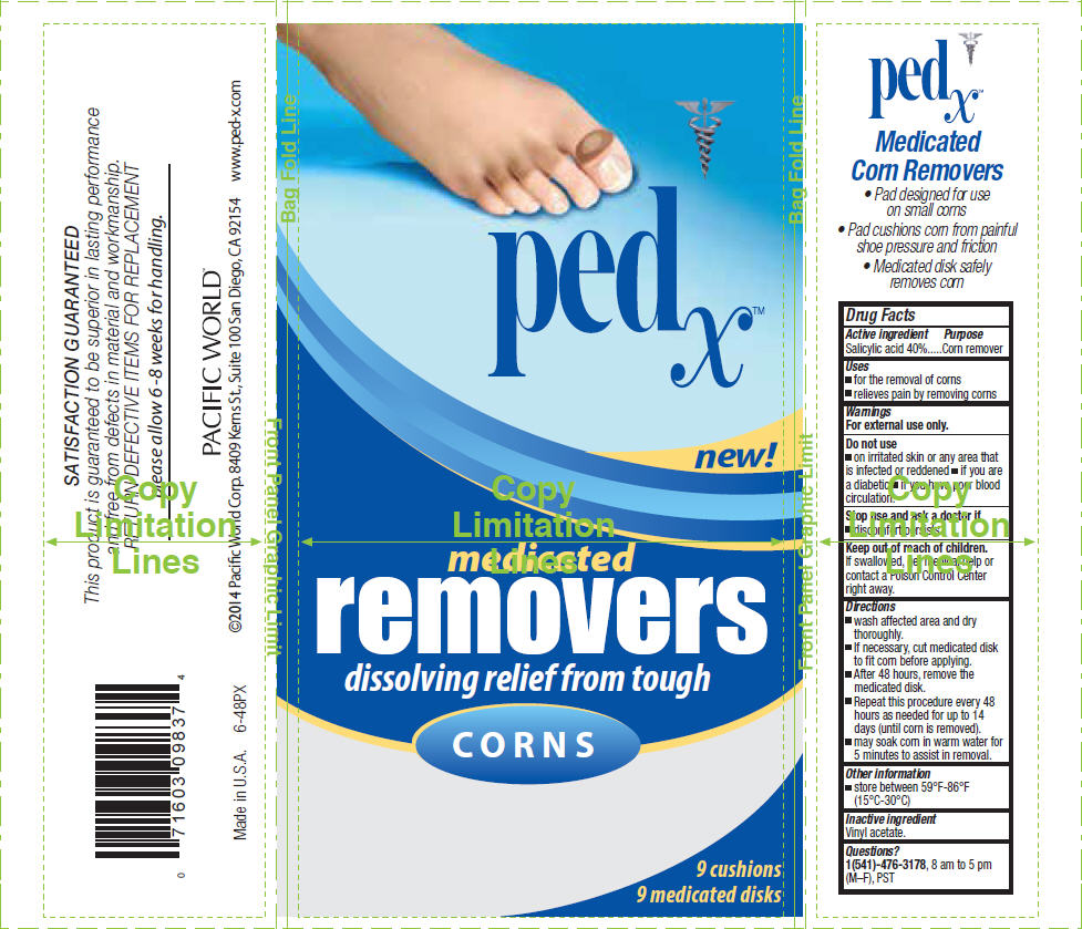 Ped X Corn Removers, Medicated (Salicylic Acid) Patch [Pacific Word Corporation]