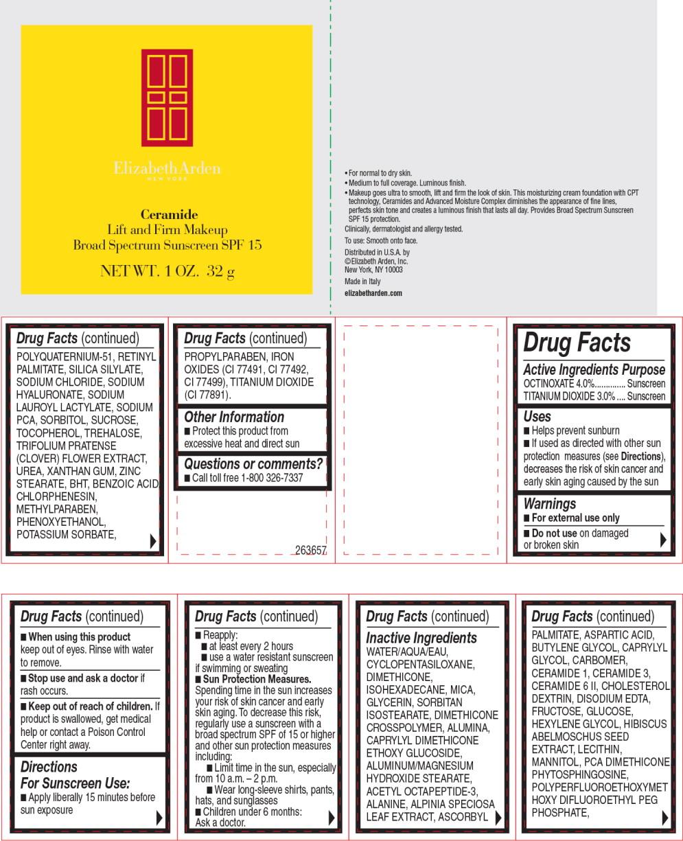 Ceramide Lift And Firm Makeup Broad Spectrum Sunscreen Spf 15 Warm Honey (Octinoxate And Titanium Dioxide) Cream [Elizabeth Arden, Inc]