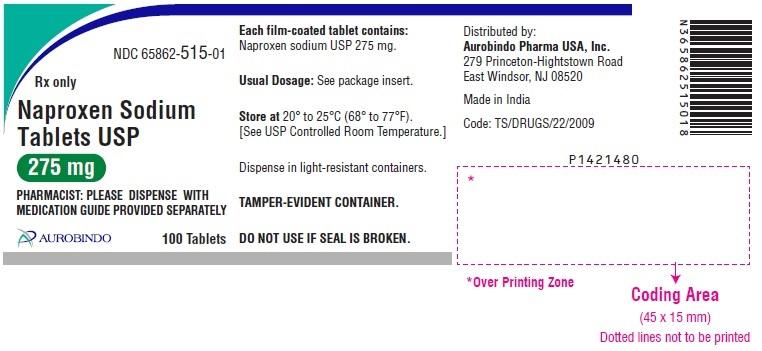 PACKAGE LABEL-PRINCIPAL DISPLAY PANEL - 275 mg (100 Tablet Bottle)