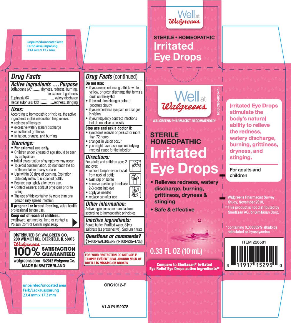 Irritated Eye (Atropa Belladonna And Calcium Sulfide And Euphrasia Stricta) Solution/ Drops [Walgreen Company]