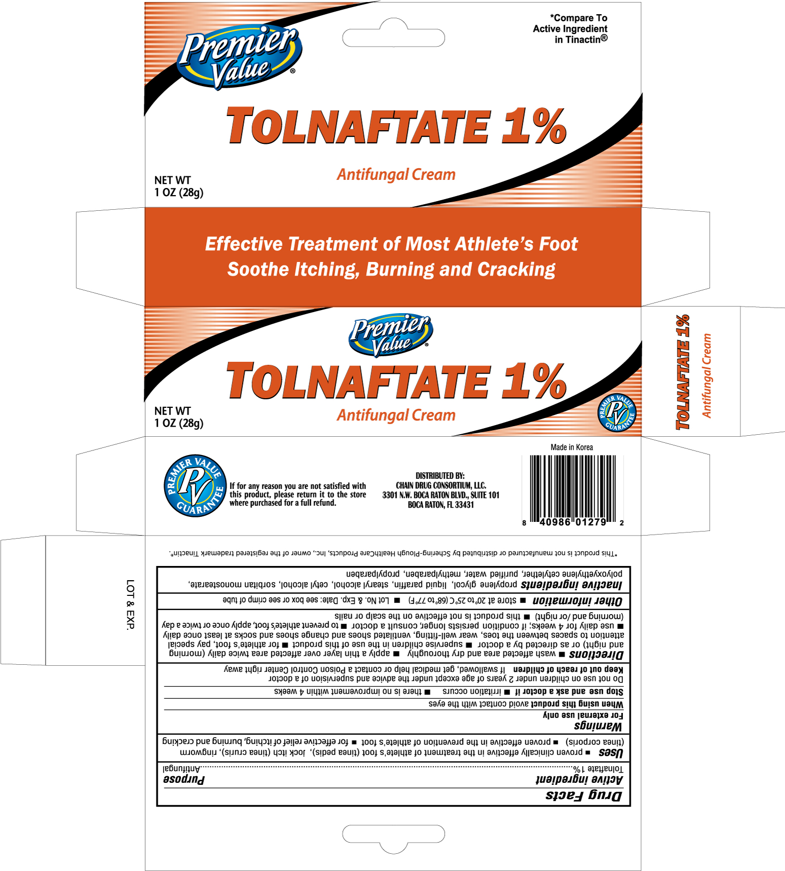 Premier Value Tolnaftate Antifungal (Tolnaftate) Cream [Chain Drug Consortium, Llc]