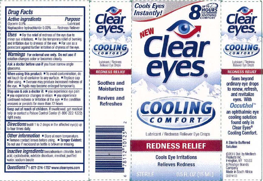 Clear Eyes Cooling Redness Relief (Glycerin And Naphazoline Hydrochloride) Liquid [Prestige Brands Holdings, Inc.]