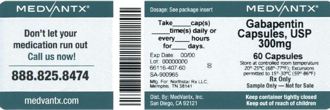 Gabapentin Capsule [Medvantx, Inc.]