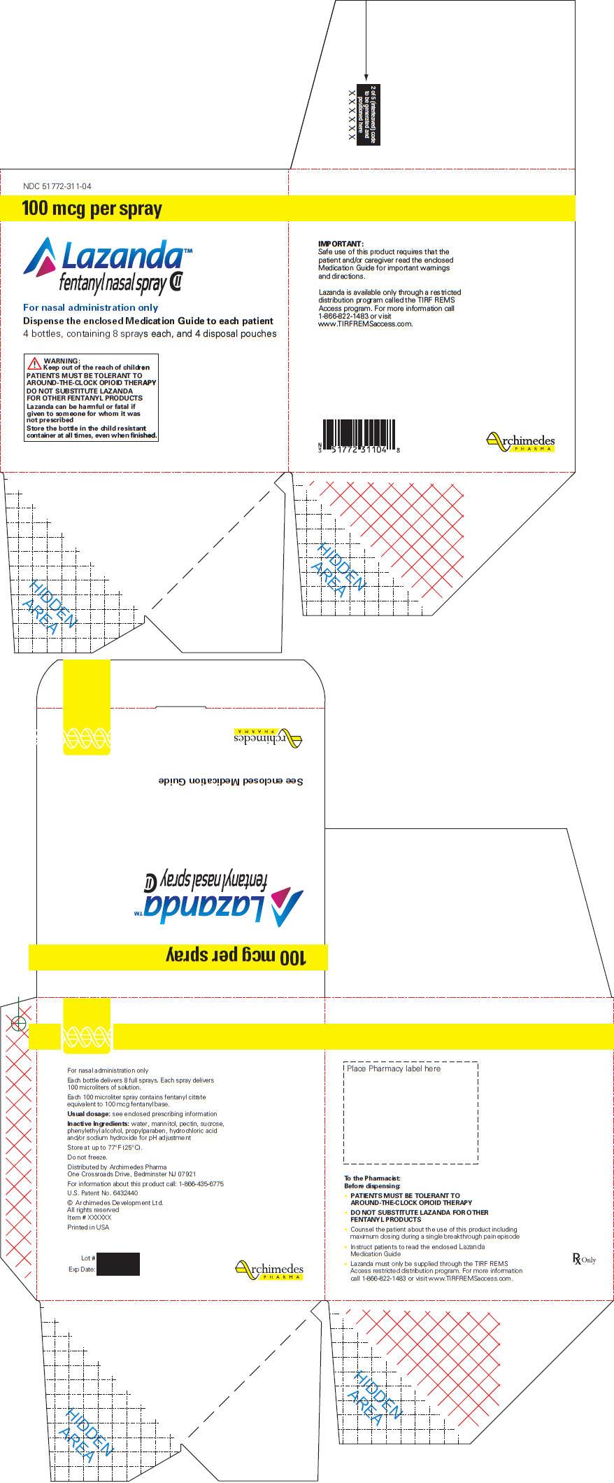 PRINCIPAL DISPLAY PANEL - 100 mcg Carton