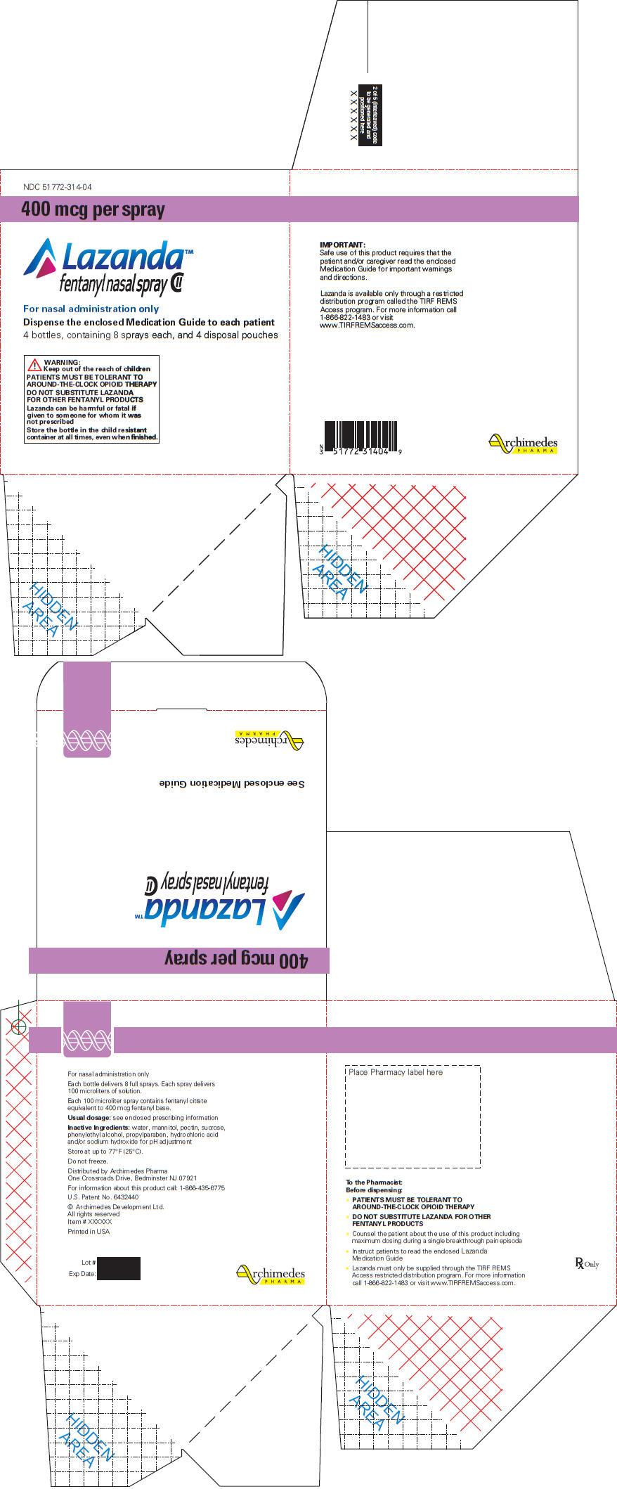 PRINCIPAL DISPLAY PANEL - 400 mcg Carton