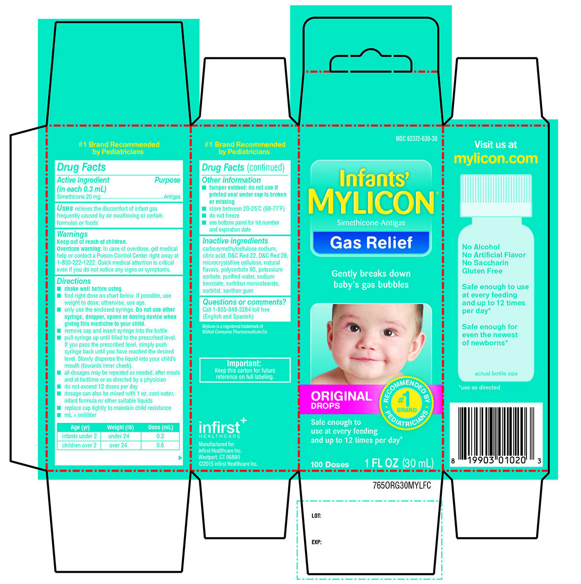 Mylicon Infants Gas Relief Original (Simethicone) Emulsion [Infirst Healthcare]