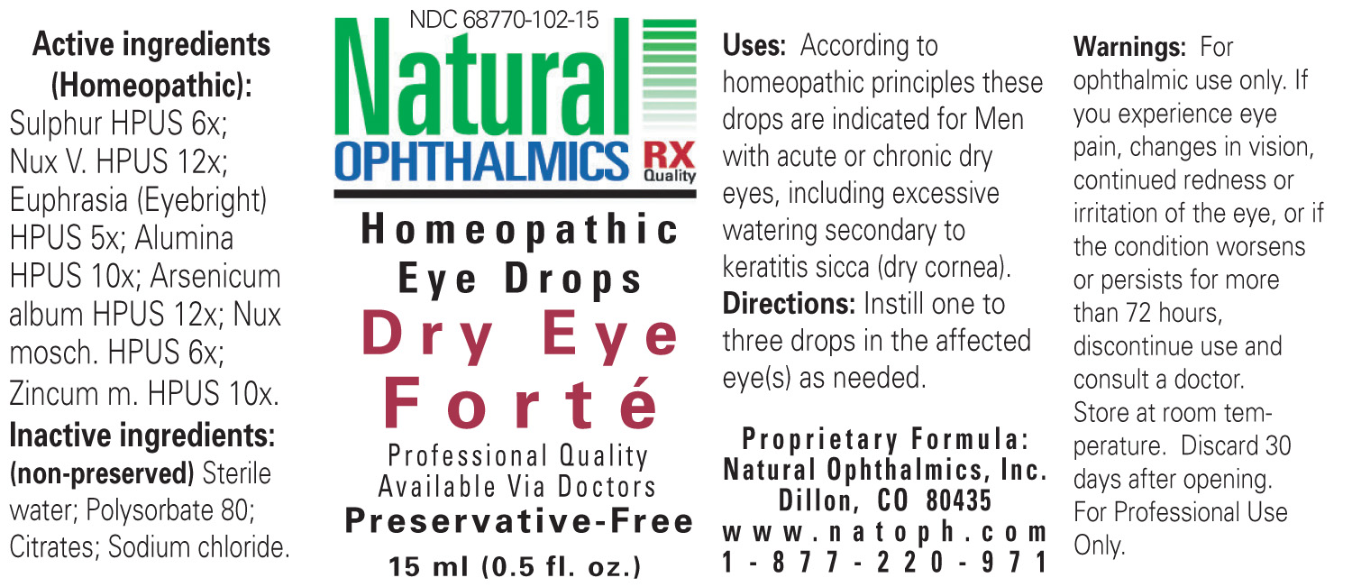 Dry Eye Forte (Sulphur, Strychnos Nux-vomica Seed, Euphrasia Stricta, Aluminum Oxide, Arsenic Trioxide, Nutmeg, Zinc) Liquid [Natural Ophthalmics, Inc]