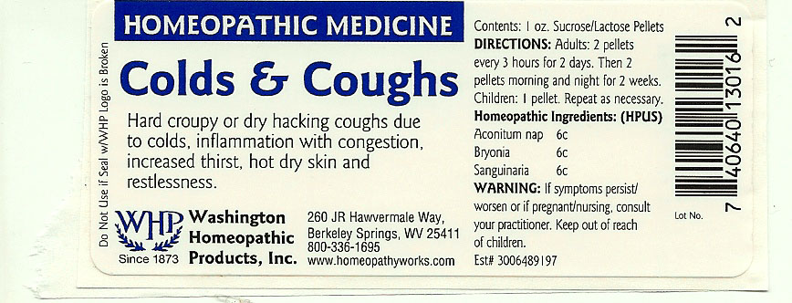Colds And Cough (Aconitum Napellus – Bryonia Alba Root – Sanguinaria Canadensis Root) Pellet [Washington Homeopathic Products]