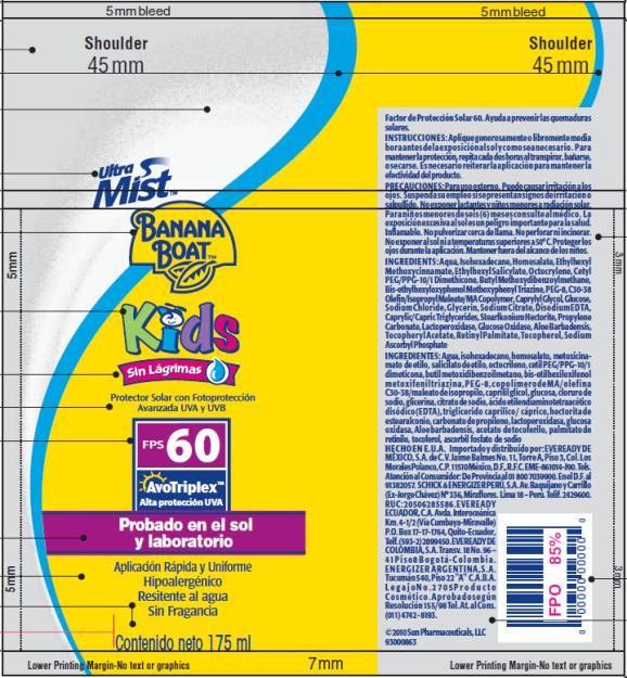 PRINCIPAL DISPLAY PANEL Banana Boat Ultra Mist Kids FPS 60 LATAM