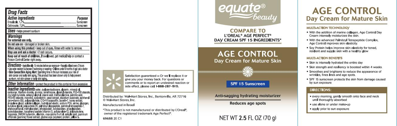 Age Control Anti-sagging And Ultra Hydrating Day Spf 15 (Ensulizole, Octinoxate) Cream [Wal-mart Stores, Inc.]