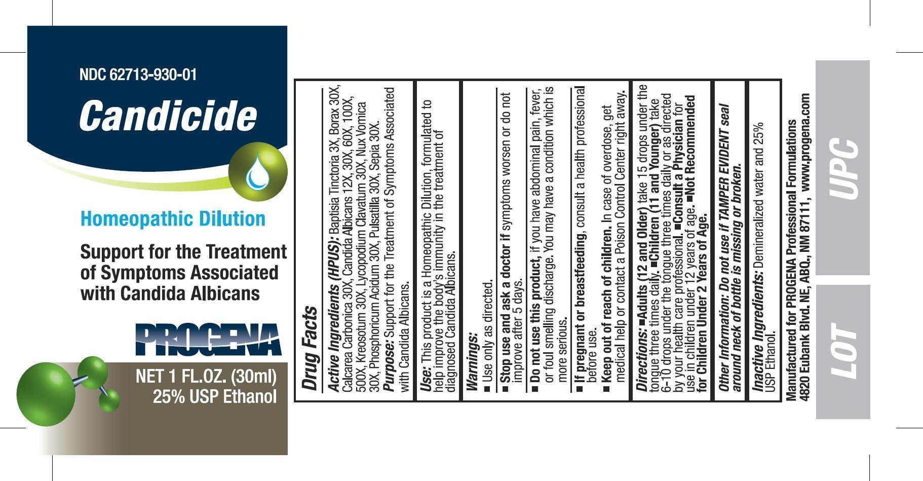 Candicide Liquid [Meditrend, Inc. Dba Progena Professional Formulations]