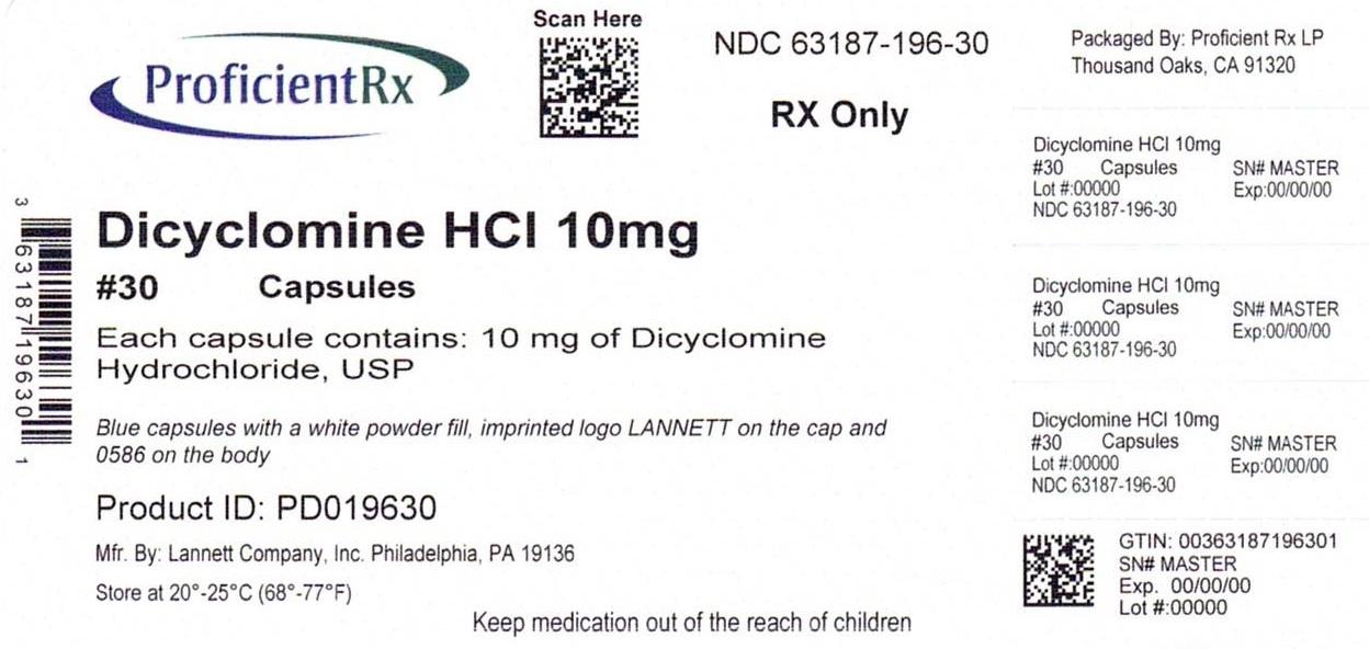 Dicyclomine Hydrochloride Tablet Dicyclomine Hydrochloride Capsule [Proficient Rx Lp]