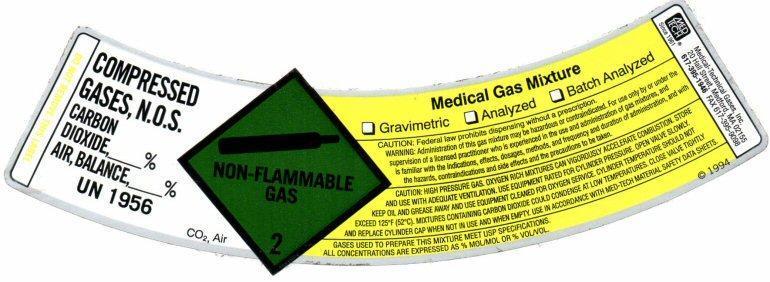 MedTech Comp Gas1 Label