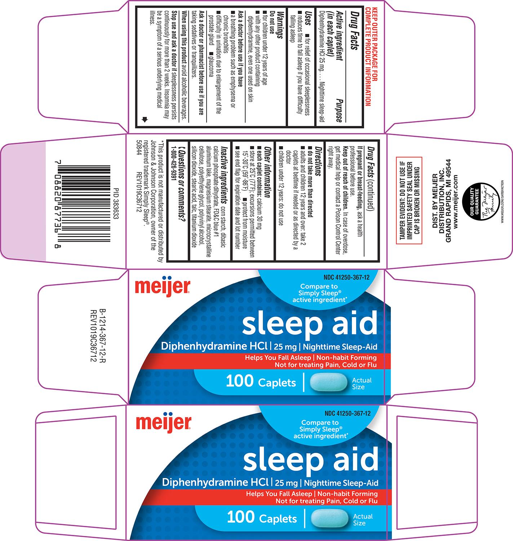 Sleep Aid (Diphenhydramine Hcl) Tablet, Film Coated [Meijer]