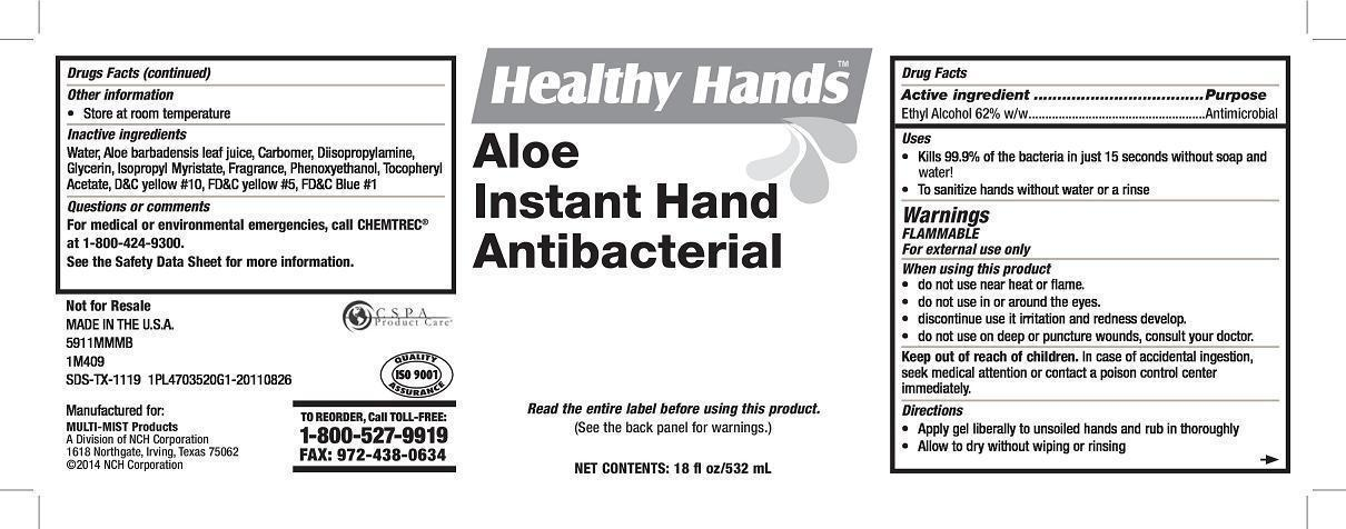 Healthy Hands Aloe Instant Hand Antibacterial (Alcohol) Soap [Nch Corporation]