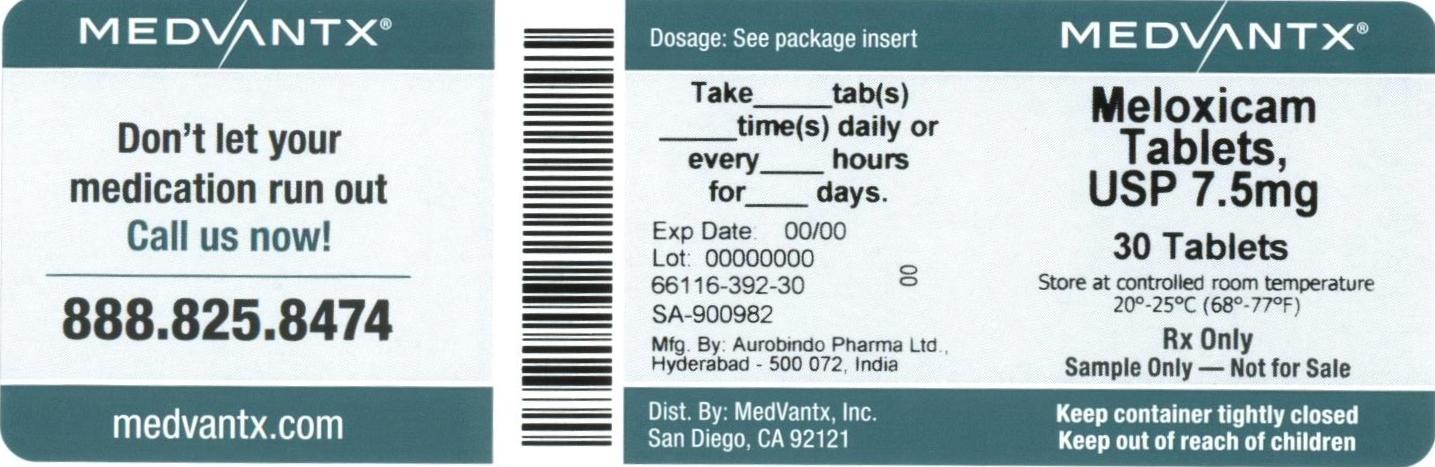 Meloxicam Tablet [Medvantx, Inc.]