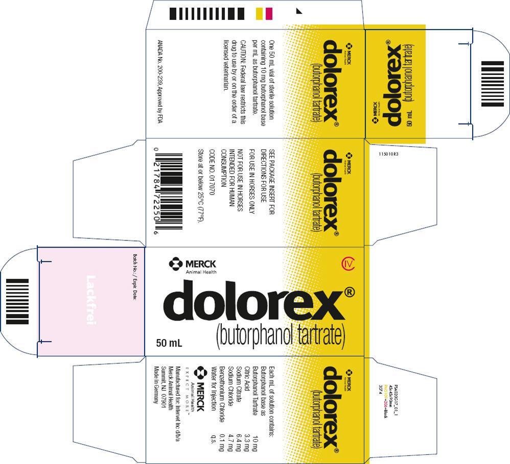 Dolorex (Butorphanol Tartrate) Injection [Merck Sharp & Dohme Corp.]