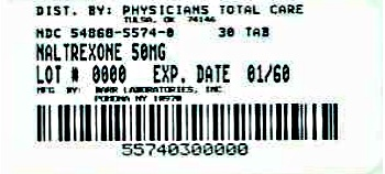 Naltrexone Hydrochloride Tablets, USP 50 mg Label