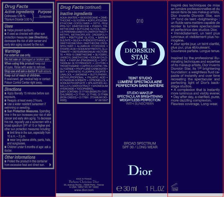 Cd Diorskin Star Studio Makeup Spectacular Brightening With Sunscreen Broad Spectrum Spf30 010 (Octinoxate, Titanium Dioxide) Liquid [Parfums Christian Dior]