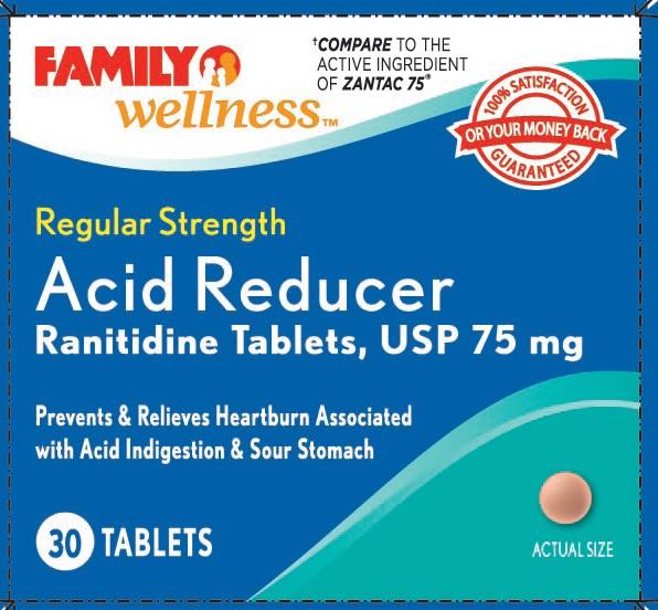 Regular Strength Acid Reducer (Ranitidine) Tablet [Family Dollar]
