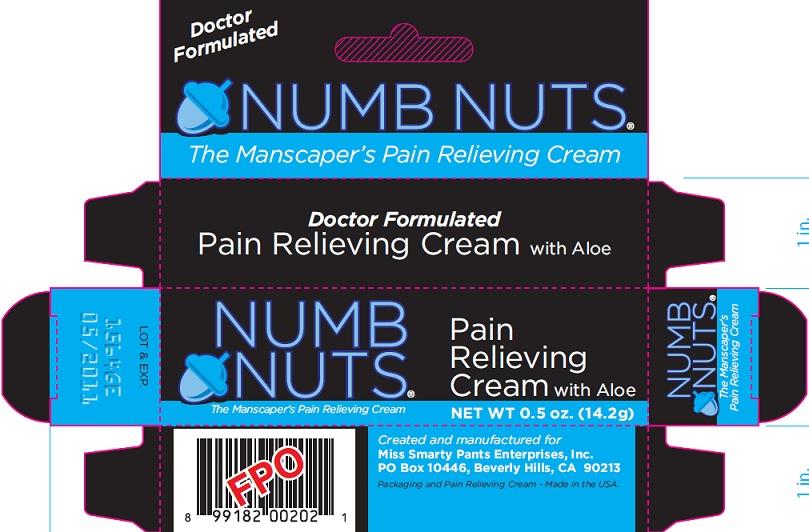 Numb Nuts (Lidocaine) Cream [Miss Smarty Pants Enterprises, Inc.]